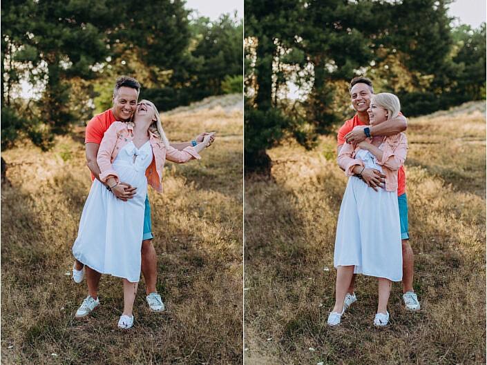 Magda i Dawid - sesja brzuszkowa
