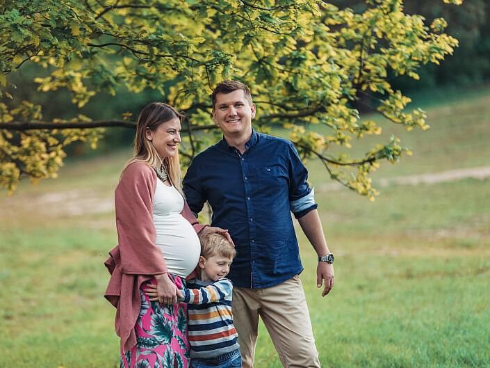 Aneta, Paweł, Milan i brzuszek