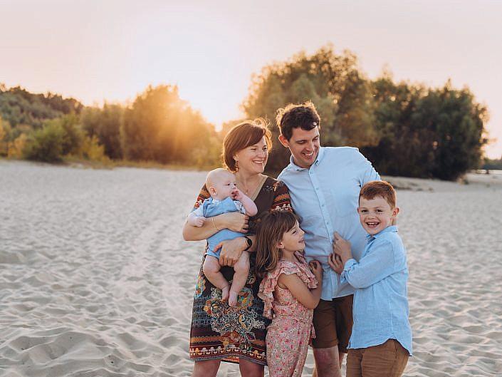 Rodzinna sesja na plaży