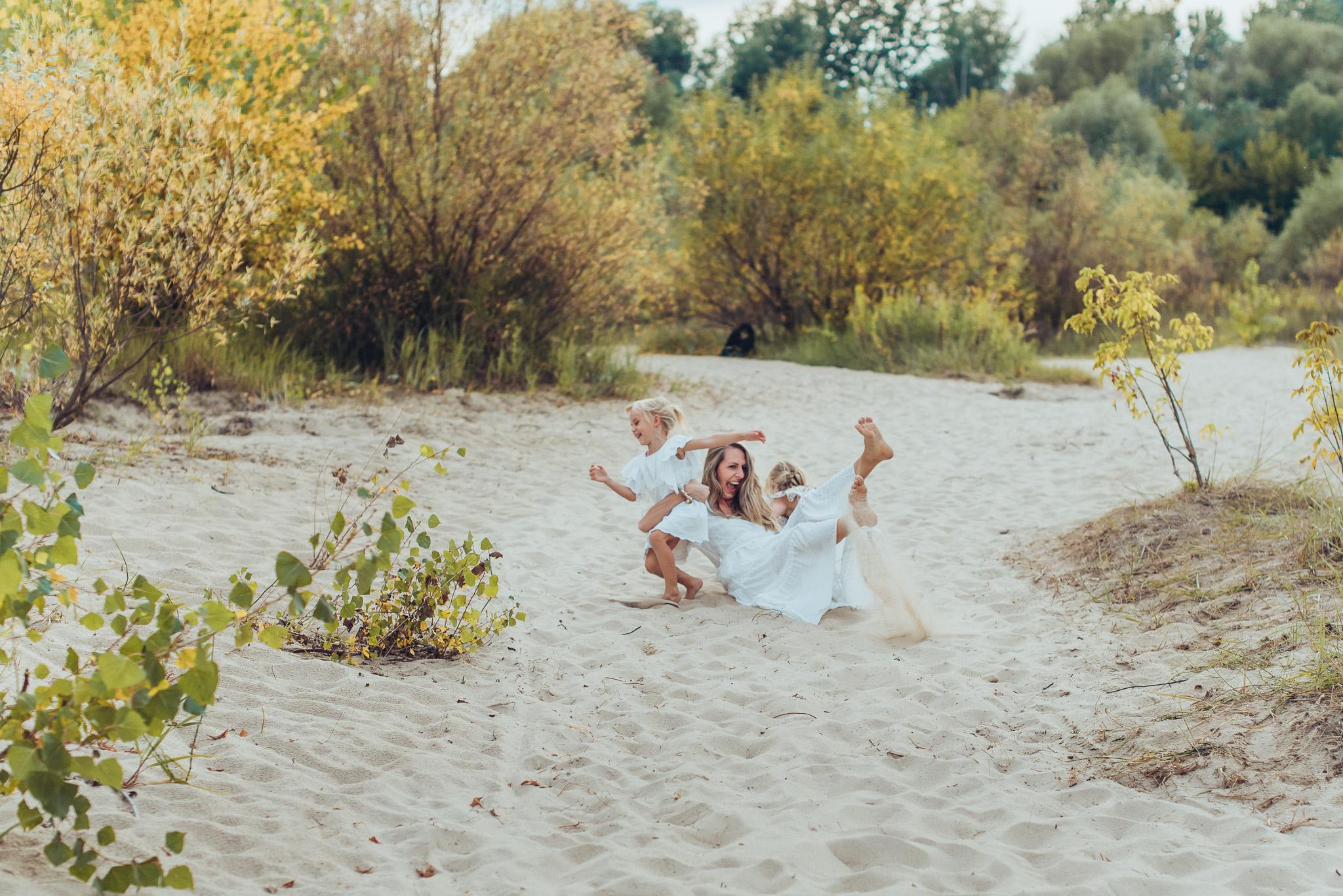 sesja rodzinna na plaży warszawa ciszyca konstancin