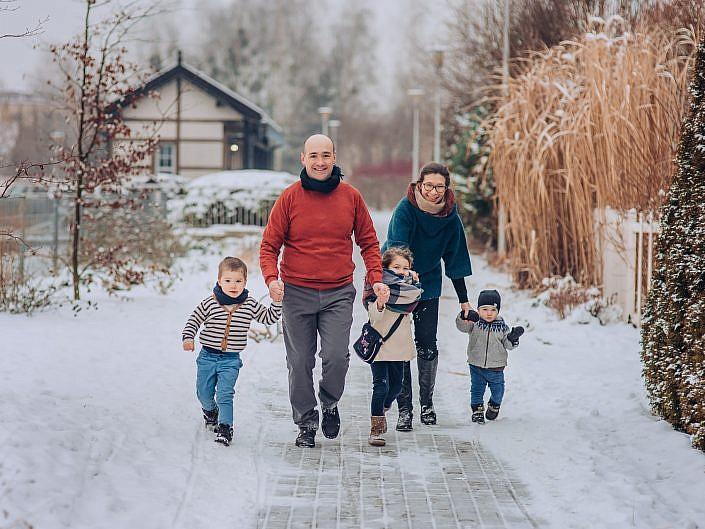 Rodzinna sesja zimowa