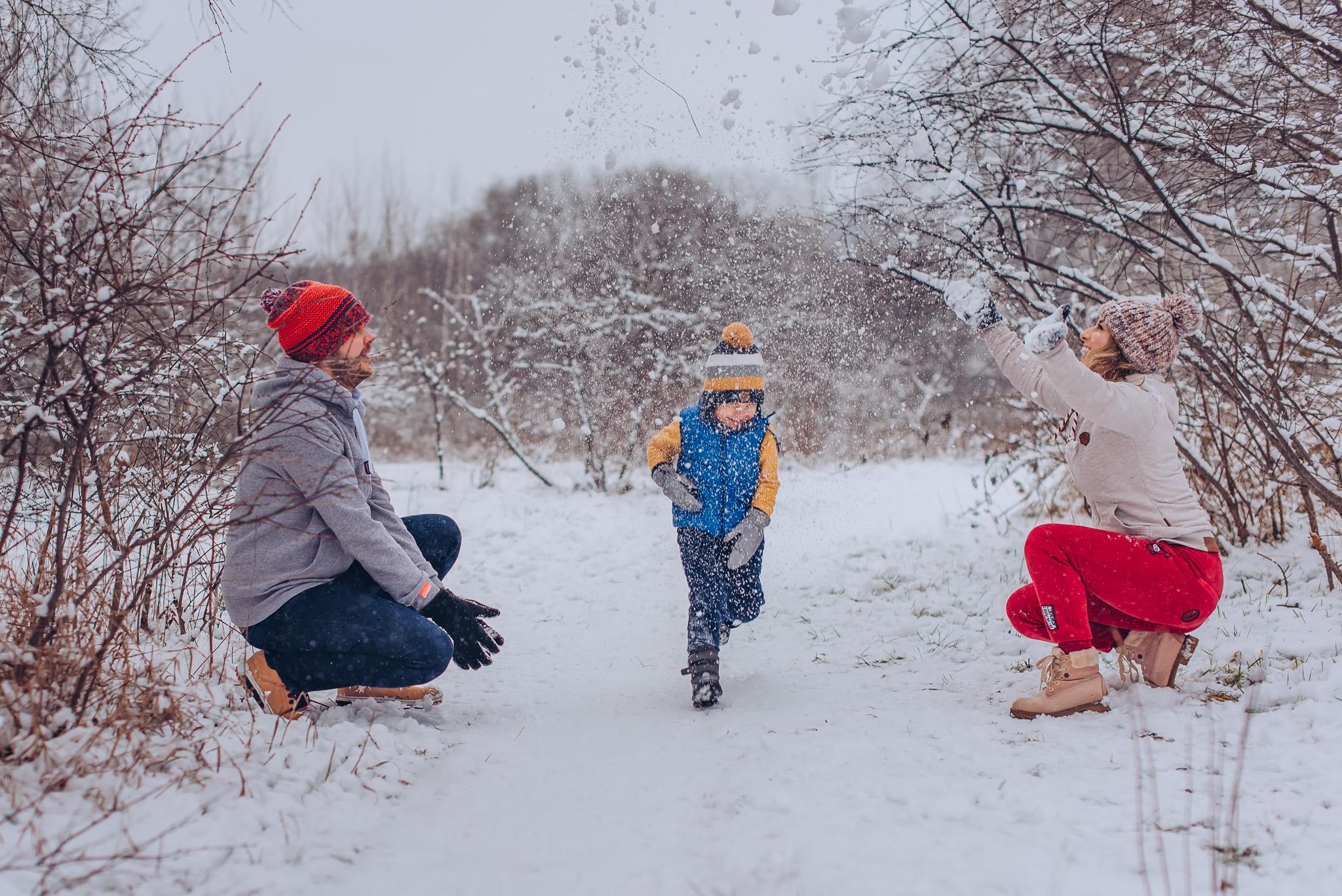 rodzinne zimowe zdjecia warszawa wilanow