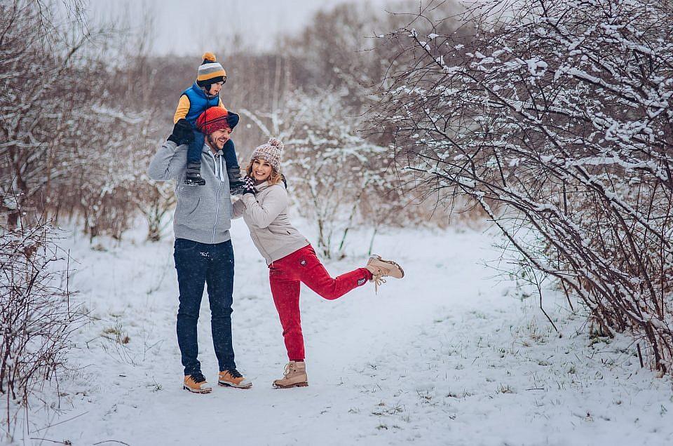 Zimowa sesja rodzinna – Warszawa