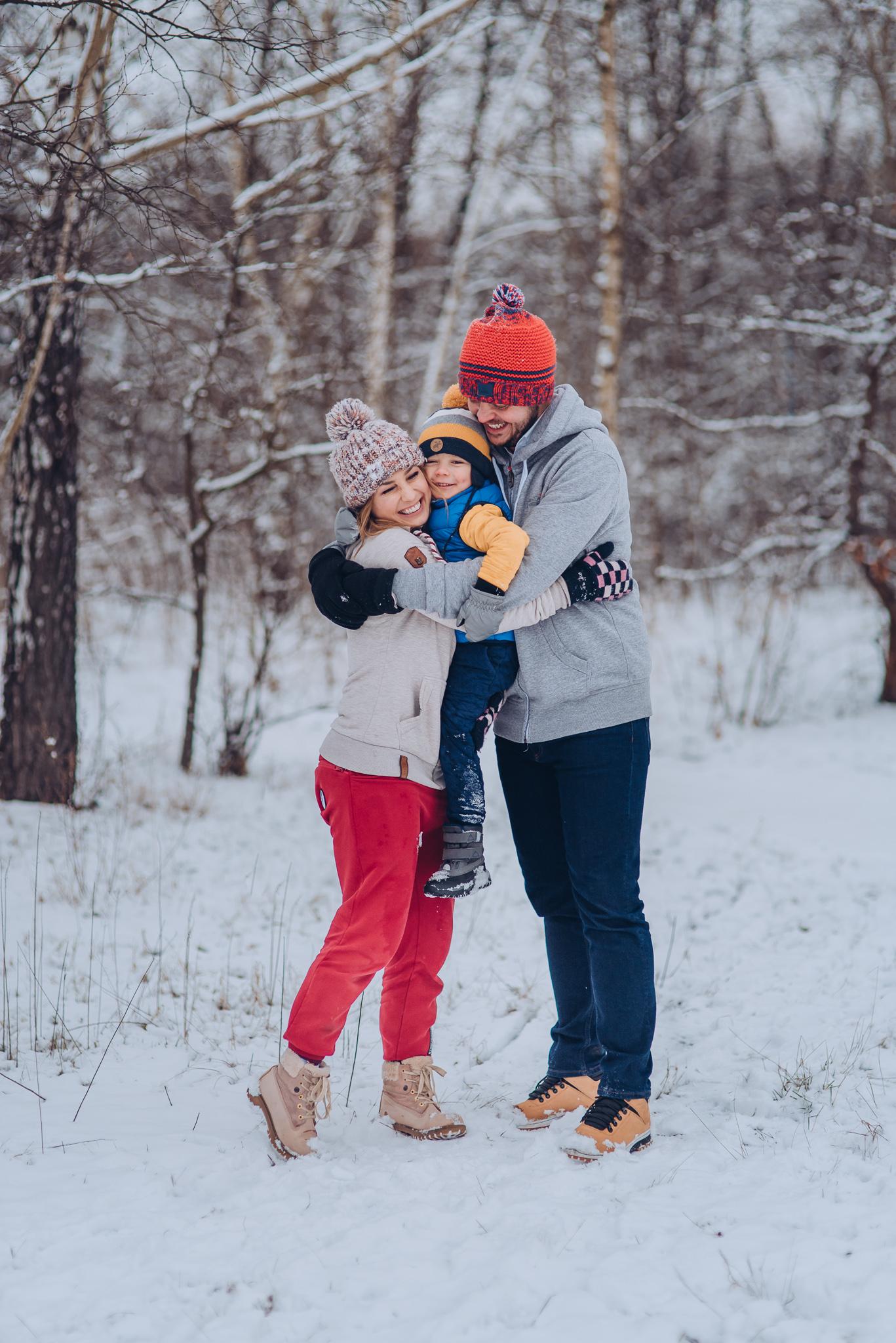 zimowa sesja rodzinna warszawa wilanow konstancin piaseczno
