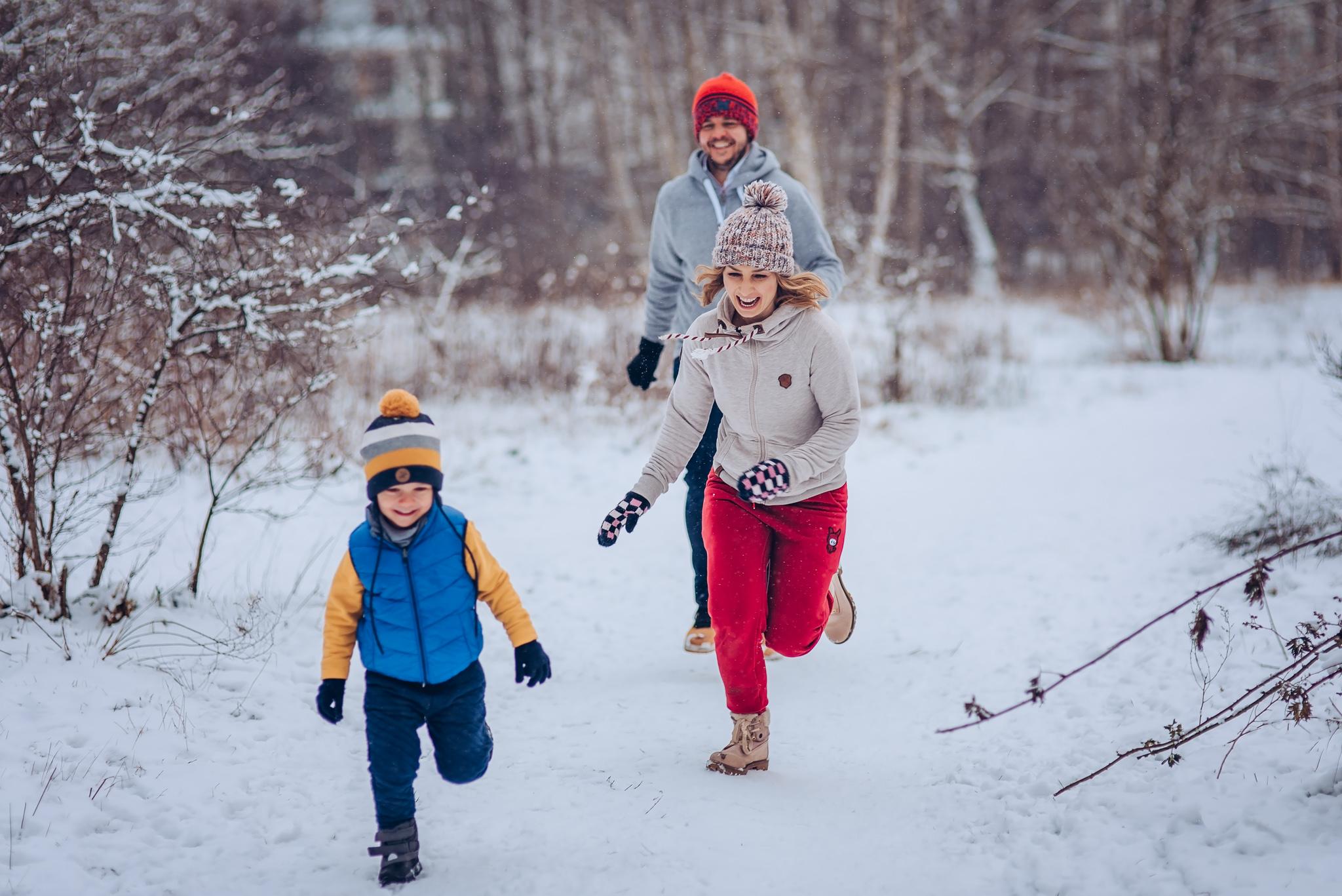 rodzinne kadry zima w warszawie